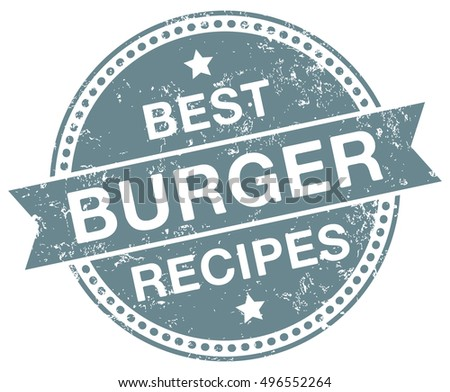 Burger Recipes stamp