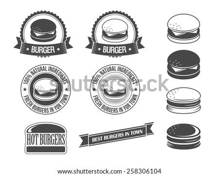 Burgers - stock vector
