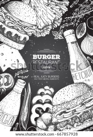 Vector vintage fast food special offer stock vector for American frame coupon code
