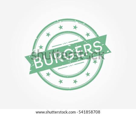 burgers. green stamp sign vector illustration