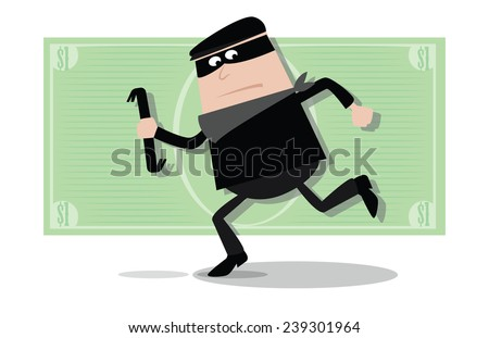 Burglar 3 - stock vector