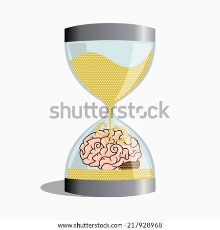 Buried memories, vector illustration - stock vector