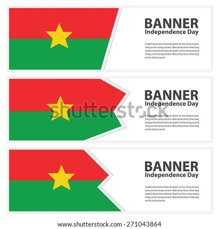 burkina faso  Flag banners collection independence day - stock vector