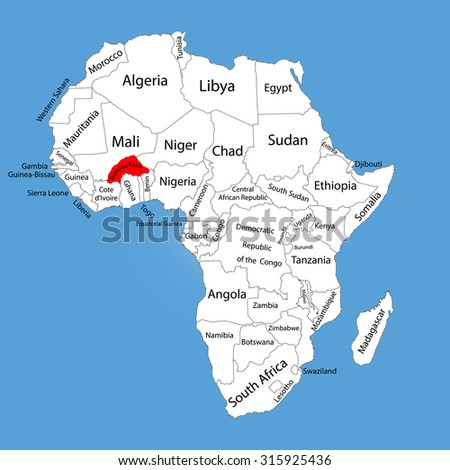 Burkina faso vector map silhouette isolated stock vector 315925436 burkina faso vector map silhouette isolated on africa map editable vector map of africa gumiabroncs Image collections