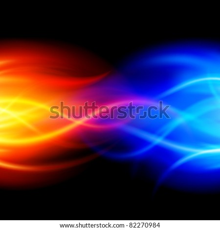 Burn abstract flame fire vector background eps 10 - stock vector