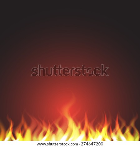 Burn flame fire - stock vector