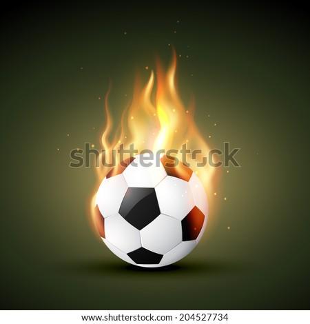 burning in fire football design - stock vector
