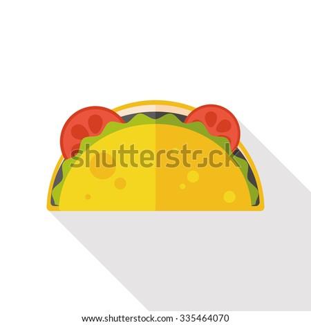 burrito flat icon - stock vector
