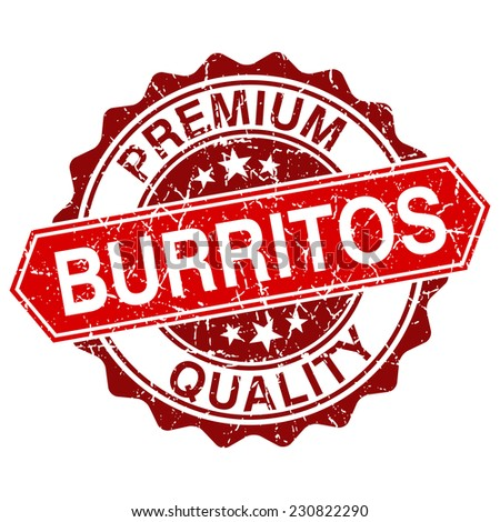 Burritos red vintage stamp isolated on white background - stock vector