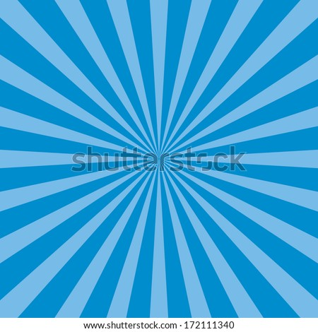 Burst vector background - Blue - stock vector