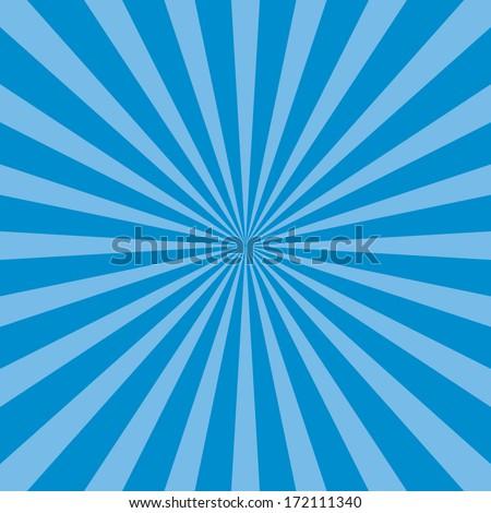 Burst vector background - Blue - stock vector