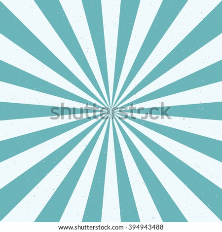 Burst vector background - blue color. Retro style. - stock vector
