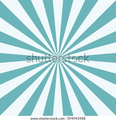 Burst vector background - blue color. Retro style. - stock vector