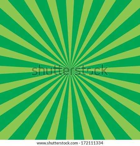 Burst vector background - Green - stock vector