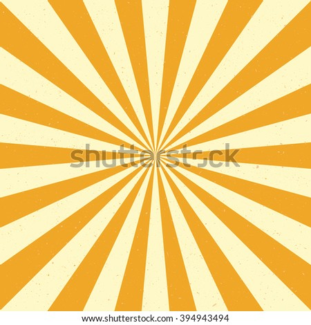 Burst vector background - Yellow color. Retro style. - stock vector