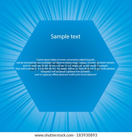 burst with free space for sample text in the middle. Vector.