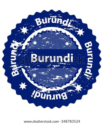 Burundi Country Grunge Stamp - stock vector