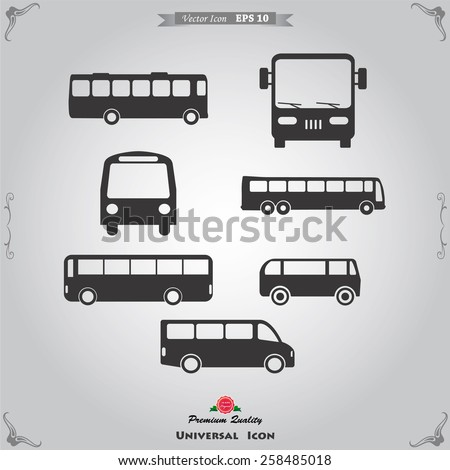 Bus icon - stock vector