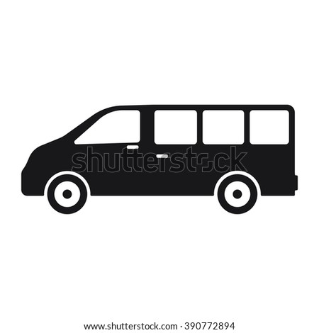 Bus icon Vector Illustration on the white background. - stock vector