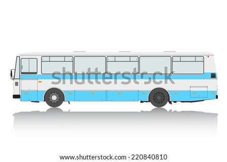 Bus on a white background. Vector illustration. - stock vector