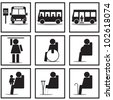 Bus signs - stock photo