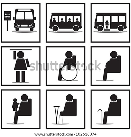 Bus signs - stock vector