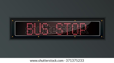 Bus Stop LED digital Sign.vector