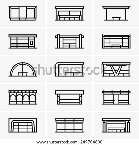 Bus stops - stock vector