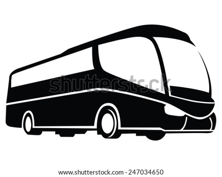 Bus Symbol - stock vector