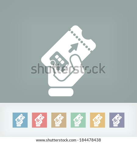 Bus ticket icon - stock vector