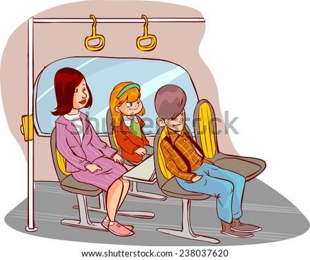 bus travel - stock vector