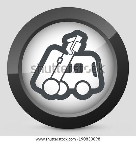 Bus travel icon - stock vector