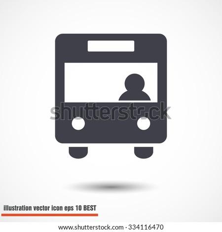 Bus. vector icon - stock vector