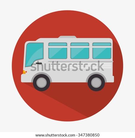 Bus vehicle icon graphic design, vector illustration  - stock vector