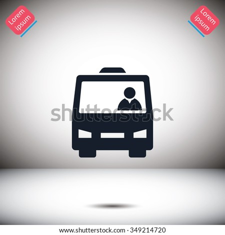 bus with people vector icon