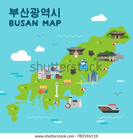 Busan Stock Images RoyaltyFree Images Vectors Shutterstock - Busan map