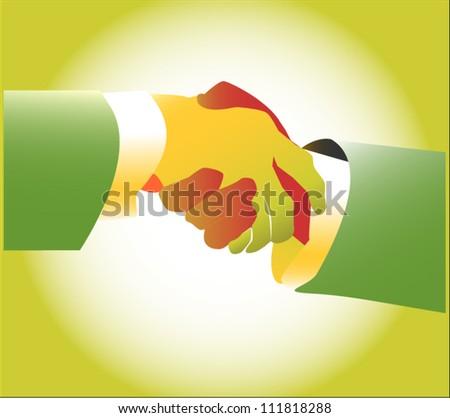 Busines handshake vector - stock vector