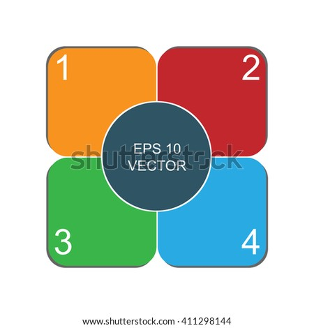 Business  Abstract Background infographics Design Layout | EPS10 Vector - stock vector