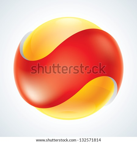 Business Abstract Bubble icon.  EPS10 - stock vector