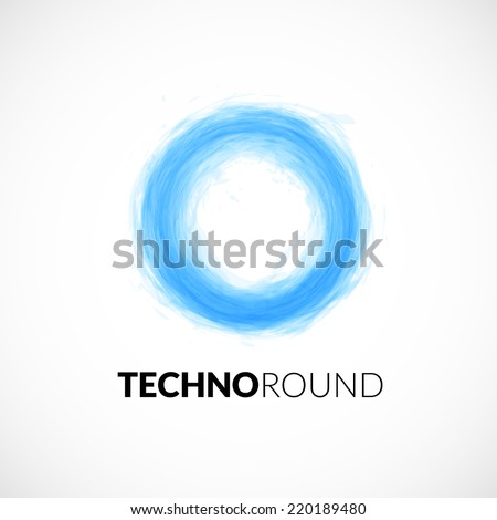 Business abstract circle icon, corporate media technology styles, vector logo design template - stock vector