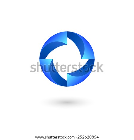 Business abstract circle symbol, logo template. Isolated on white background. Vector illustration, eps 10.