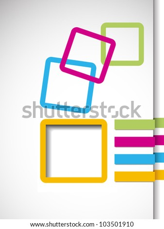 Business abstract frame - stock vector