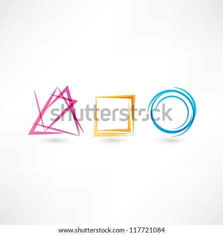 Business abstract icon - stock vector