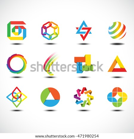 Business Abstract Icons. Vector Illustration