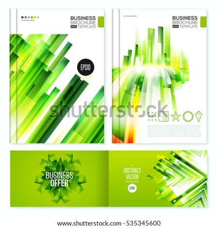 Business Abstract Page Background. Geometric Polygonal Surface layout set. Brochure design for annual report, magazine, booklet or banner. Vertical and gorizontal. Vector Illustration.