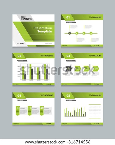 business abstract power template presentation slides stock vector