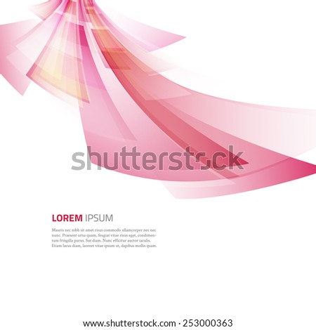 Business abstract red background. Vector illustration.
