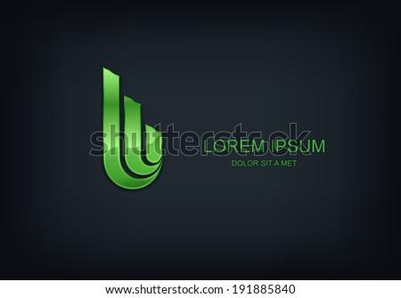 Business abstract vector template design emblem logo, Business technology universal idea - stock vector