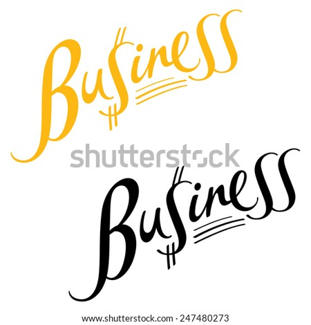 Business Abstract Vector Word Inscription Dollar Stock Vector