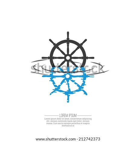 Business Abstract wheel ship  icon. Corporate, Media, transportation, delivery, Technology styles vector logo design template.